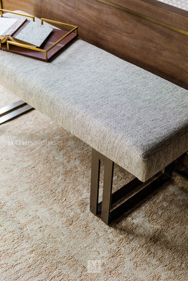 """Contemporary 52"""" Bench in Beige"""