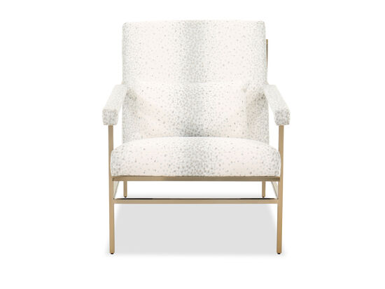 """Modern 29"""" Canted Chair in White"""