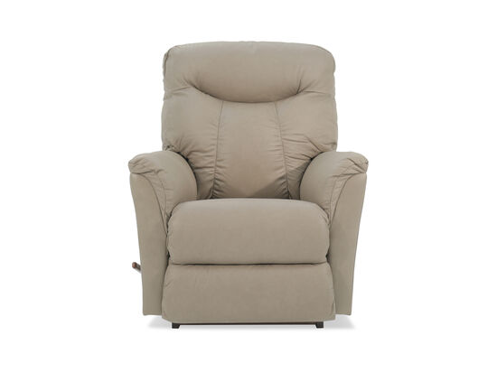 "Leather 36"" Rocker Recliner in Beige"