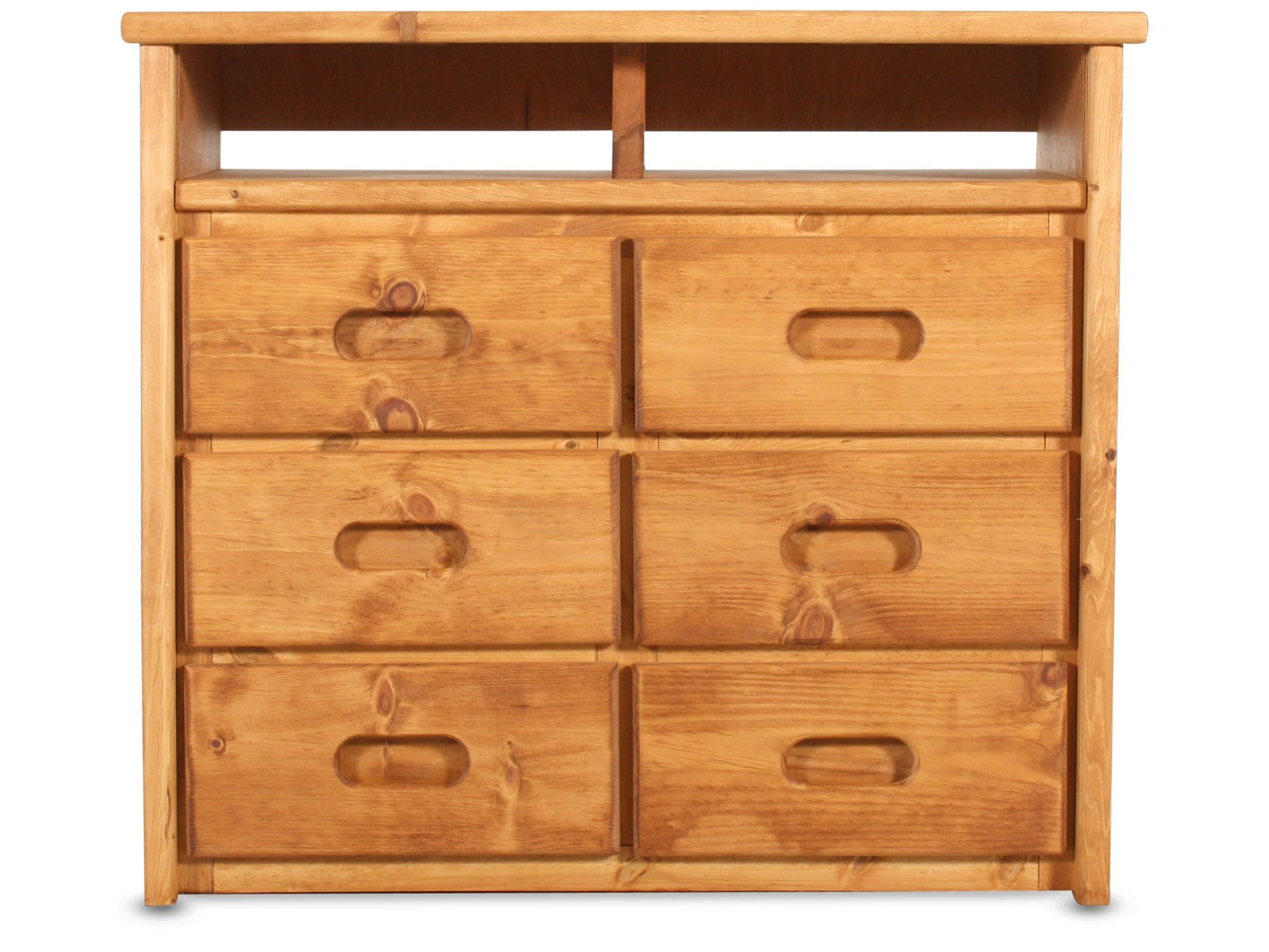 Images Six Drawer Solid Pine Media Chest In Cinnamon