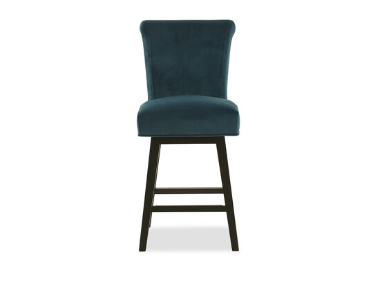 Upholstered Counterstool in Turquoise