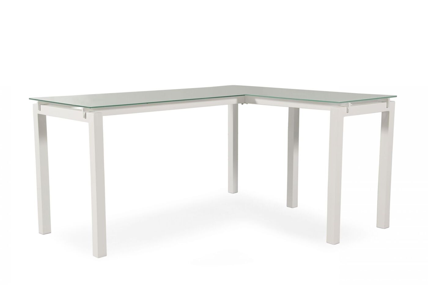 61 Quot Contemporary L Shaped Desk In White Mathis Brothers