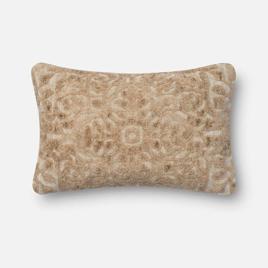 "Contemporary 1'-2""x1'-10"" Cover w/down pillow in Cream"