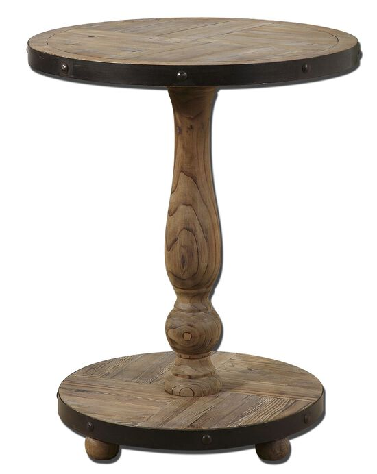 Pedestal Round Table in Brown