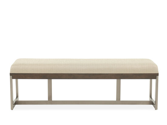 "Traditional 55"" Bed Bench in Beige"