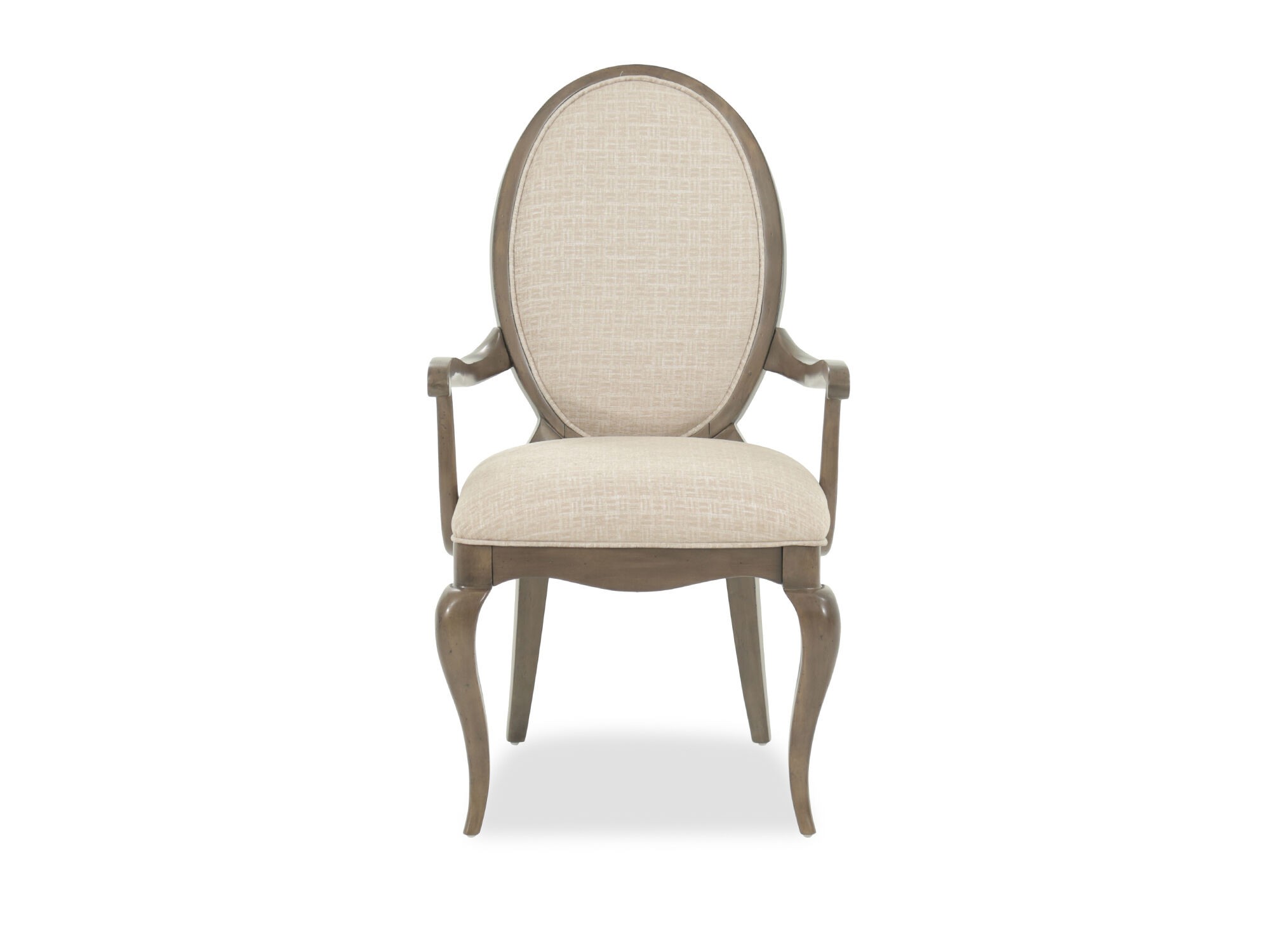 Oval Back 41 5 Arm Chair In Beige Mathis Brothers