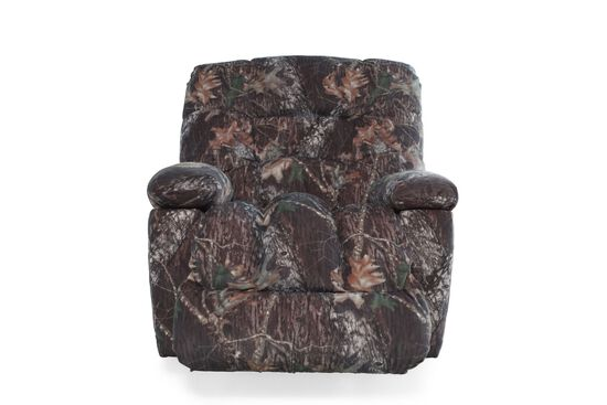 """Camouflage-Patterned Casual 43"""" Recliner"""