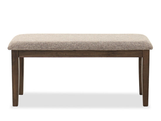 "Casual 40"" Dining Bench in Brown"