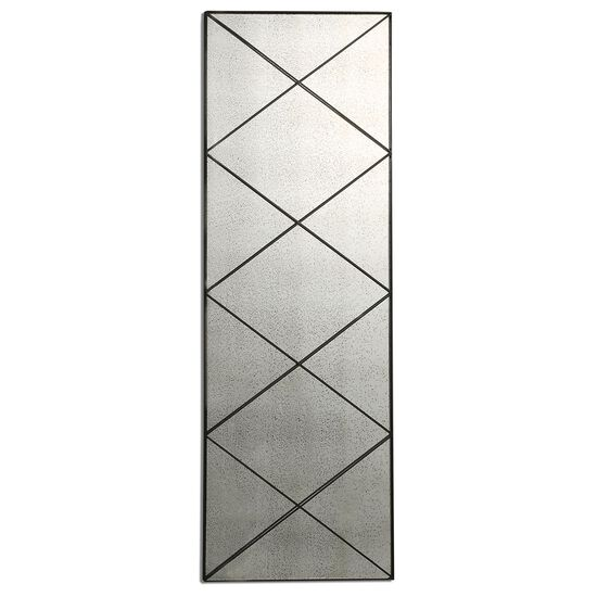 "60"" Diagonal Strips Antique Mirror in Dark Bronze"