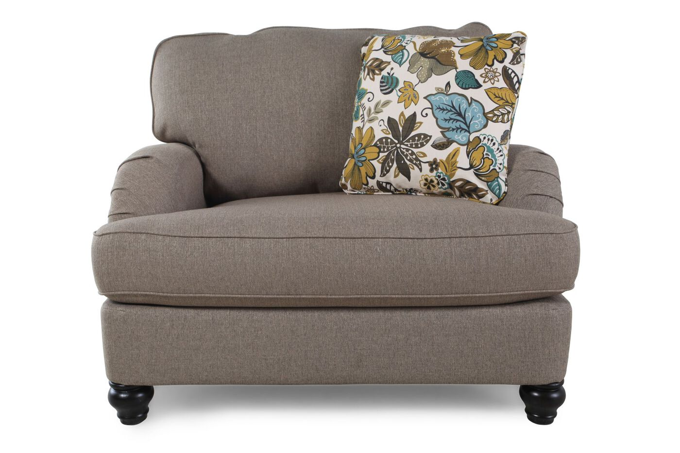 casual chairs for living room arm casual 46 quot chair and a half in gray mathis 21331