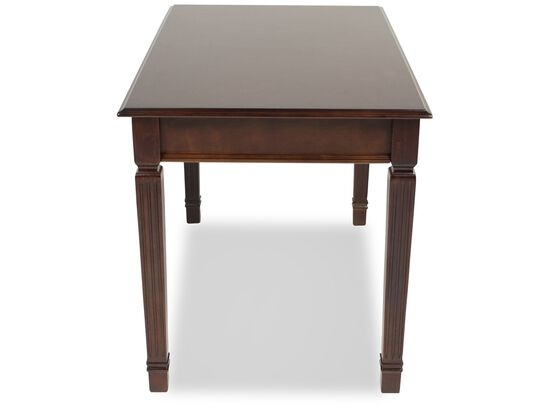 """48"""" Traditional One-Drawer Desk in Brown"""