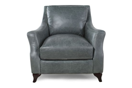 Track Arm Leather Chair in Teal