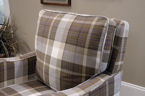 """Contemporary Plaid 29"""" Accent Chair"""