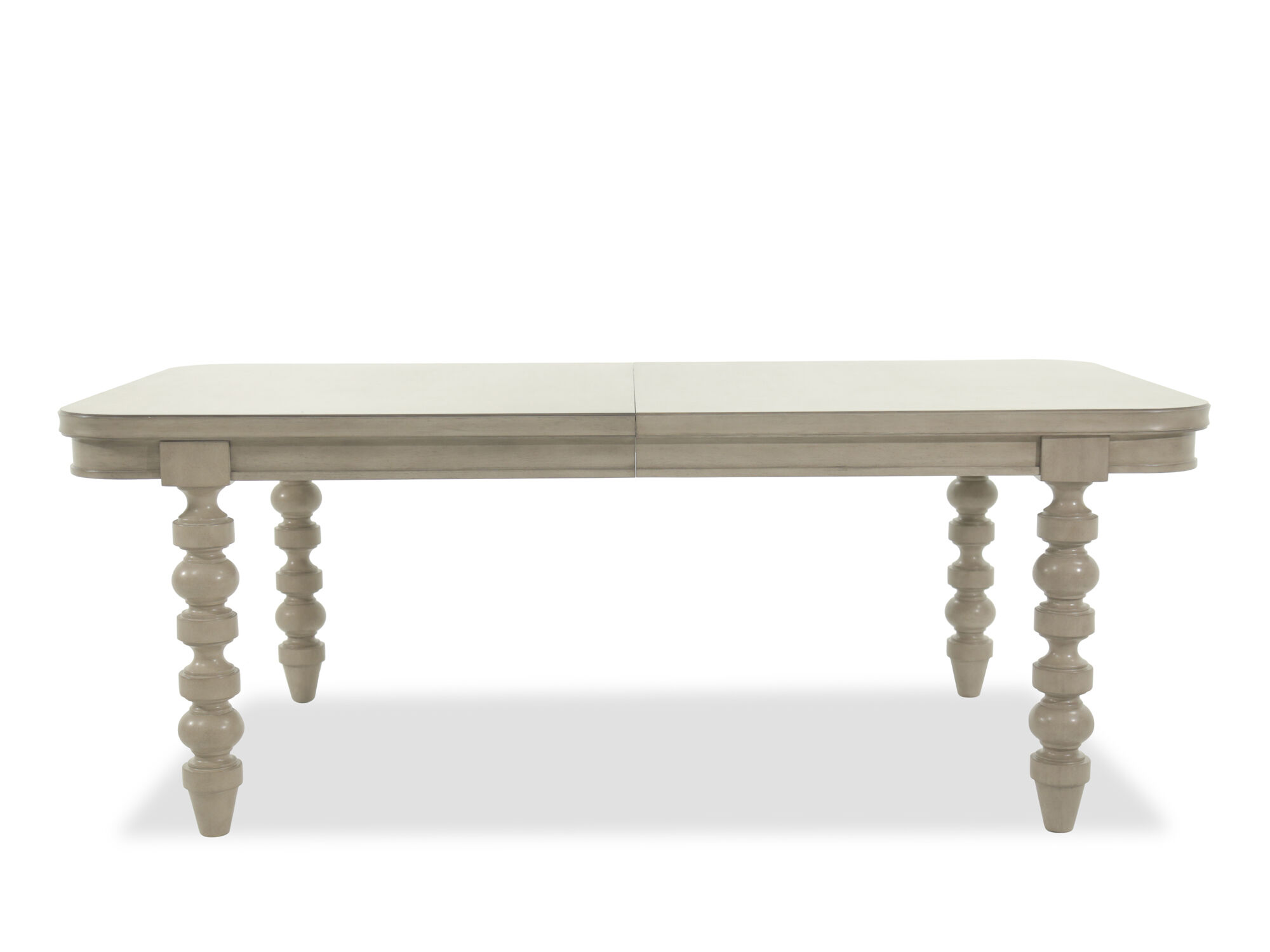 Modern 80 Solid Parawood Table With Detachable Leaf Mathis Brothers Furniture