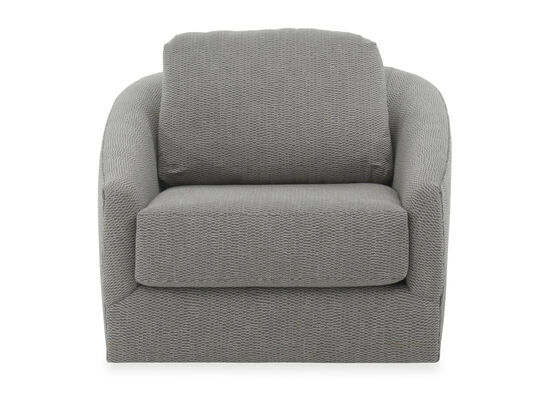 Textured Contemporary Swivel Chair in Gray