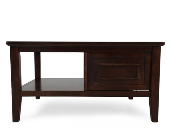 Contemporary Storage Cocktail Table in Brown Espresso