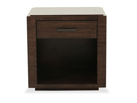 Contemporary Single Drawer End Table in Espresso
