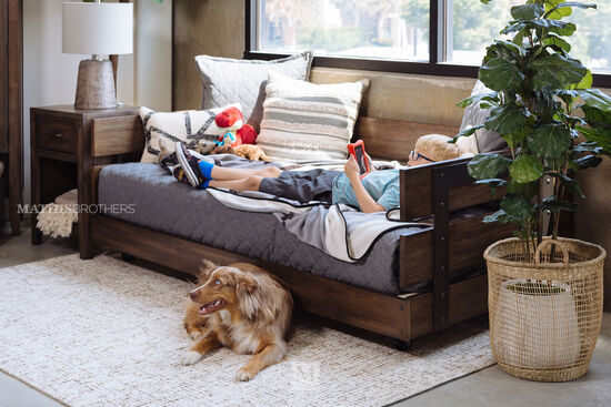 Contemporary Youth Daybed in Oiled Oak