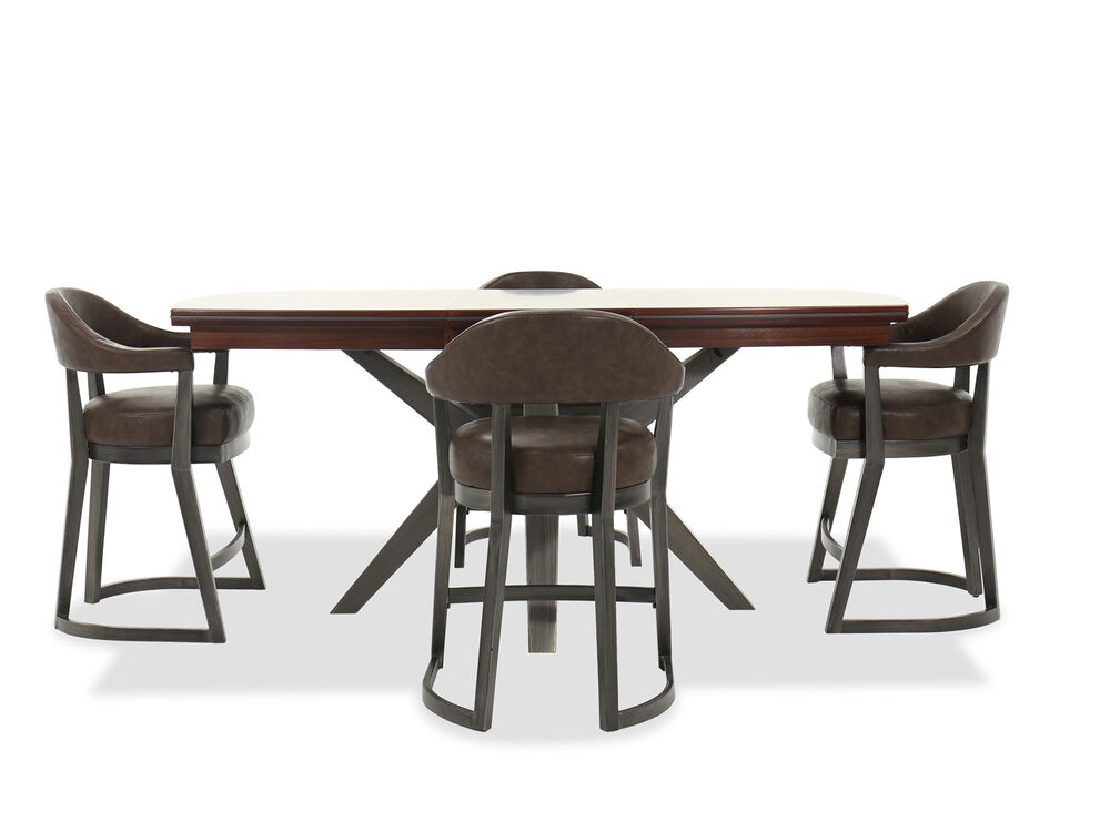 Five-Piece Transitional Counter Set in Brown