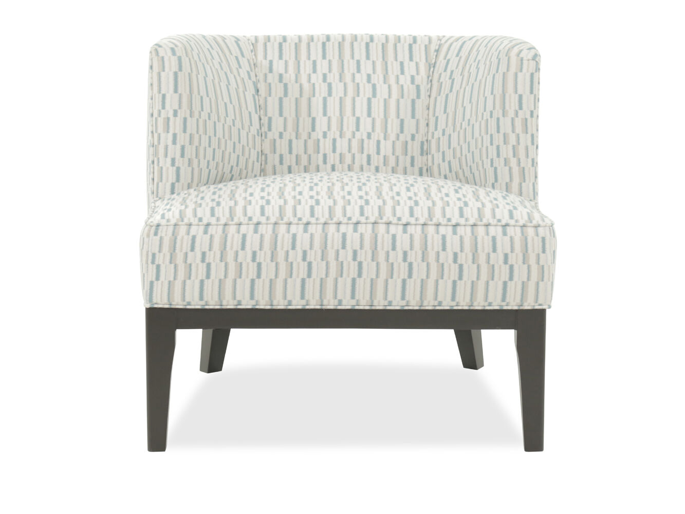 Patterned casual 31 chair mathis brothers furniture for Patterned living room chair