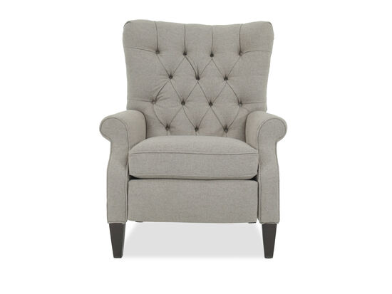 Diamond-Tufted Traditional 33.5'' Press Back Recliner in Beige