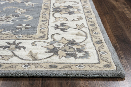"Traditional Hand-Tufted 2'6"" x 10' Runner Rug in Gray"