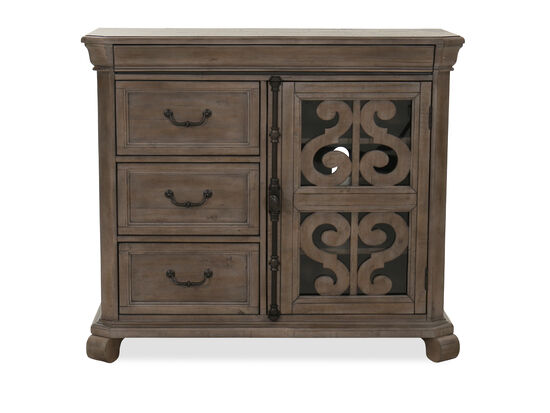 "42"" Four-Drawer Media Chest in Dove Tail Gray"
