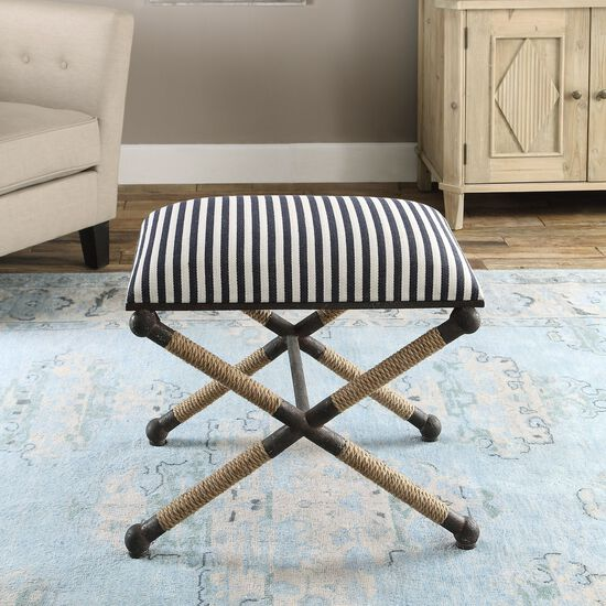 """Striped 24"""" Accent Bench"""