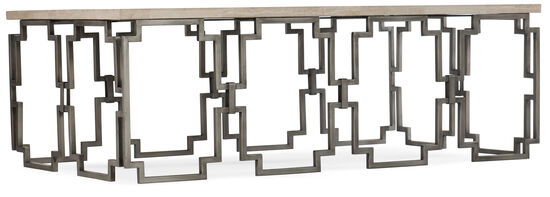 Emmeline Rectangle Cocktail Table in Cream