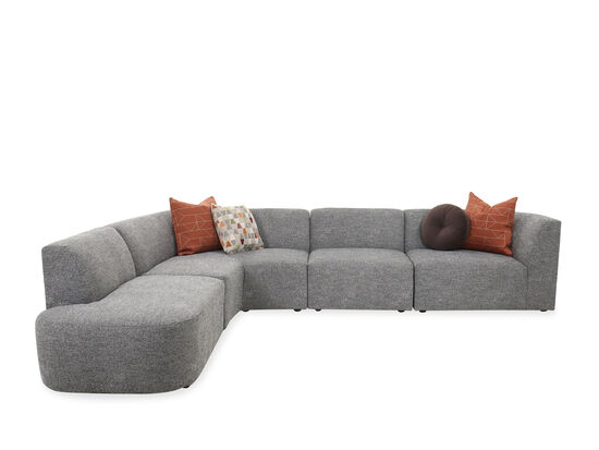 Four-Piece Contemporary Sectional in Grey