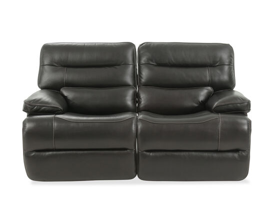 """Power Reclining Traditional 68"""" Loveseat with Power Headrest in Blackberry"""