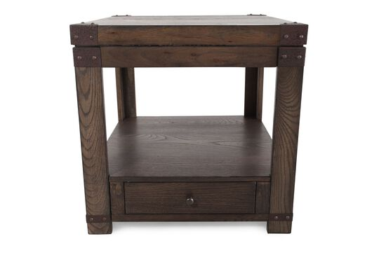Square Casual End Tablein Washed Brown