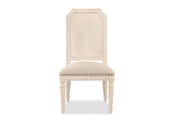 "Traditional Nailhead-Accented 43.5"" Side Chair in Cirrus"