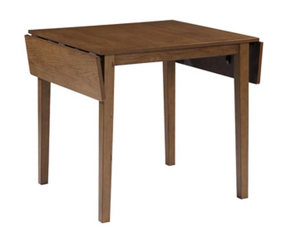 Contemporary 32 drop leaf dining table in light brown mathis brothers furniture - Brown kitchen table ...