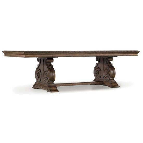 Rhapsody Rectangle Dining Table in Medium Wood