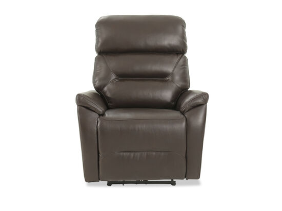 "Traditional 33.5"" Power Recliner in Chocolate"