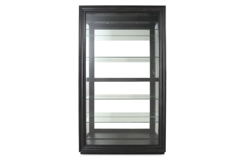 Sliding Front Casual Curio in Oxford Black