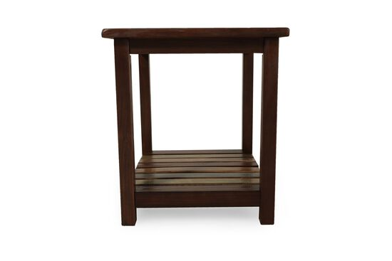 Casual Xylophone-Shelf End Table in Brown