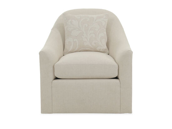 """Contemporary 31"""" Swivel Chair in Beige"""