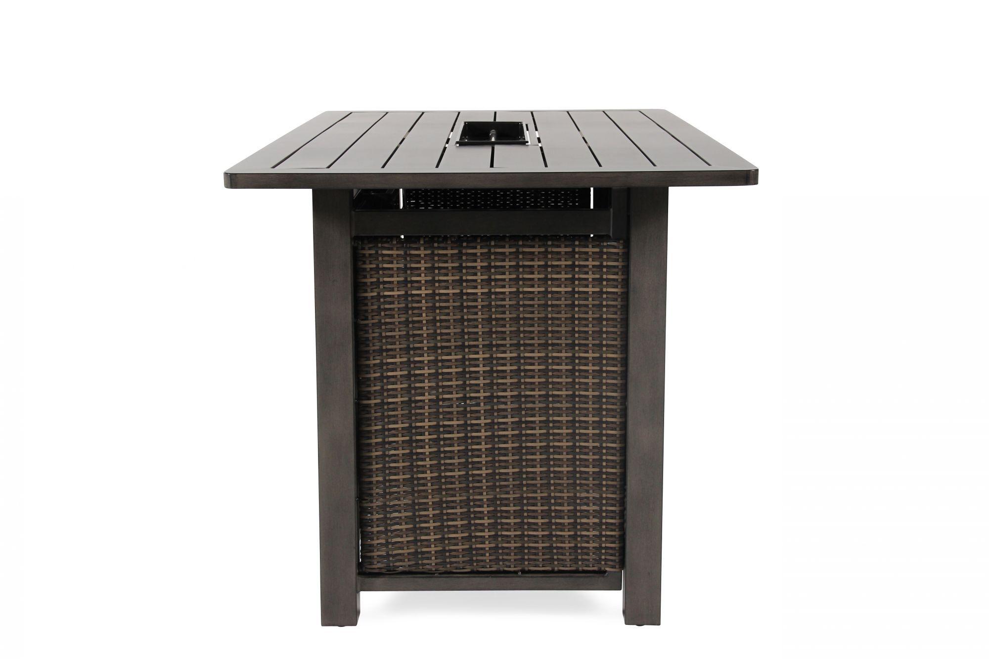 ... Rectangular Contemporary Bar Height Fire Tableu0026nbsp ...