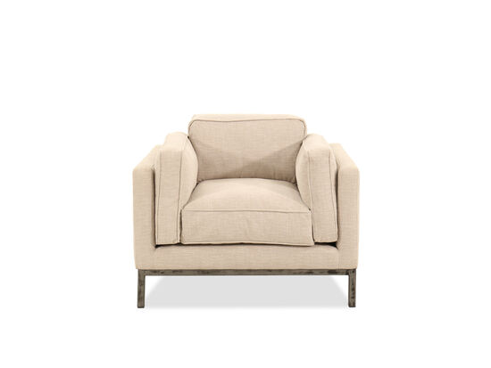 """38.5"""" Contemporary Low-Profile Chair in Beige"""