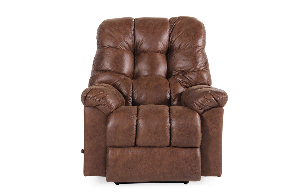 "Contemporary 52"" Wall Recliner in Chestnut Brown"