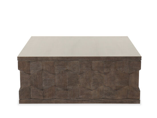 Square Cocktail Table in Cerused Charcoal