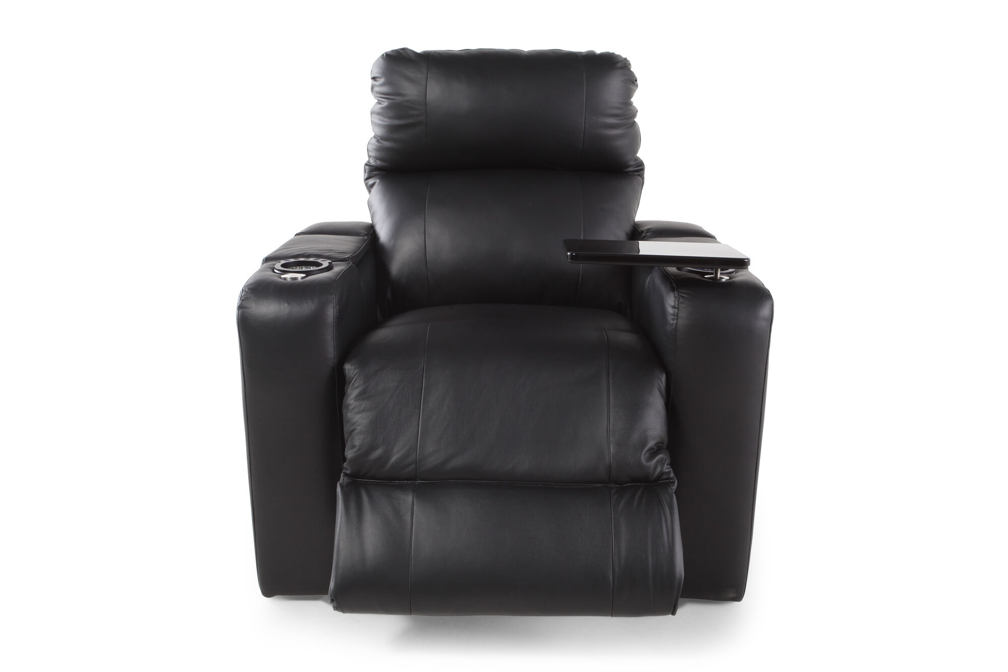 44 Recliner With Swivel Table In Midnight