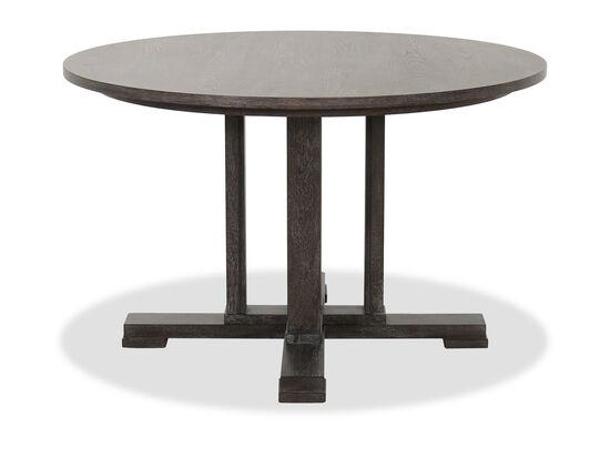 """Contemporary 48"""" Round Dining Table in Cerused Gray"""