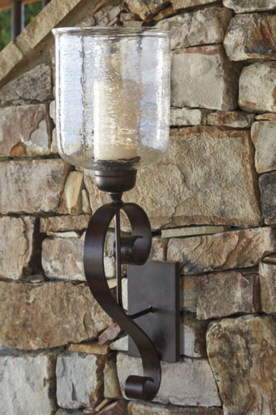 Traditional Scroll Wall Sconce in Brown