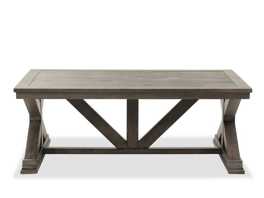 Rustic Cocktail Table In Gray Mathis Brothers Furniture