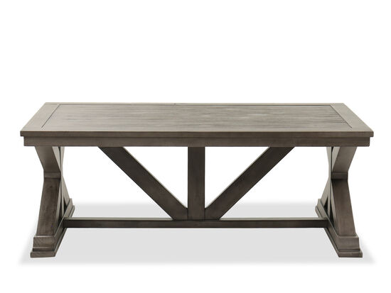 Rustic Cocktail Table in Gray