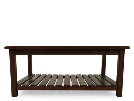 Xylophone-Shelf Rectangular Casual Cocktail Tablein Brown