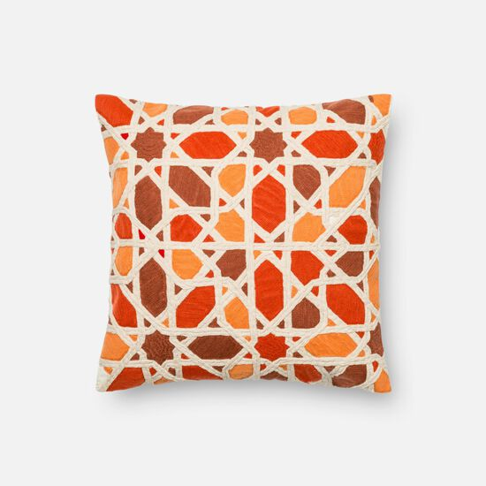 "18""x18"" Pillow Cover Only in Orange/Red"
